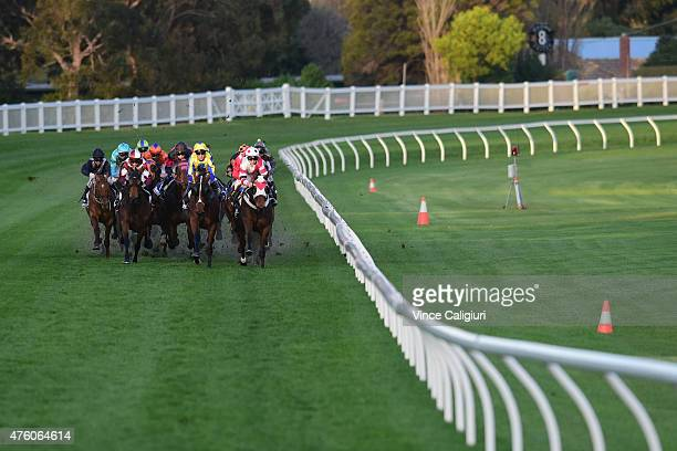 Jye McNeil riding Flash of Doubt winning Race 8 during Melbourne Racing at Moonee Valley Racecourse on June 6 2015 in Melbourne Australia