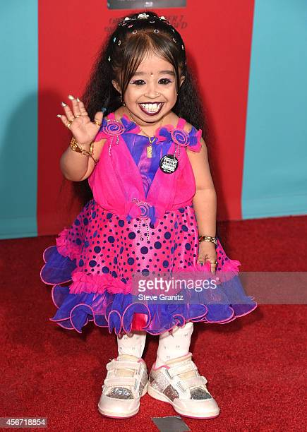 Jyoti Amge arrives at the American Horror Story Freak Show Los Angeles Premiere at TCL Chinese Theatre IMAX on October 5 2014 in Hollywood California