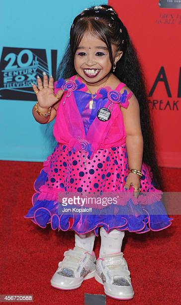 Jyoti Amge arrives at the Los Angeles Premiere American Horror Story Freak Show at TCL Chinese Theatre IMAX on October 5 2014 in Hollywood California