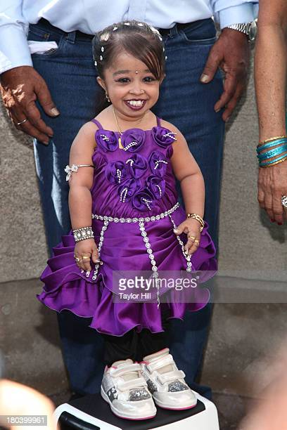 Jyoti Amge visits at The Empire State Building on September 12 2013 in New York City