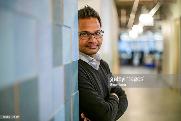 Jyoti Bansal founder and chief executive officer of AppDynamics Inc stands for a photograph at the company's office San Francisco California US on...