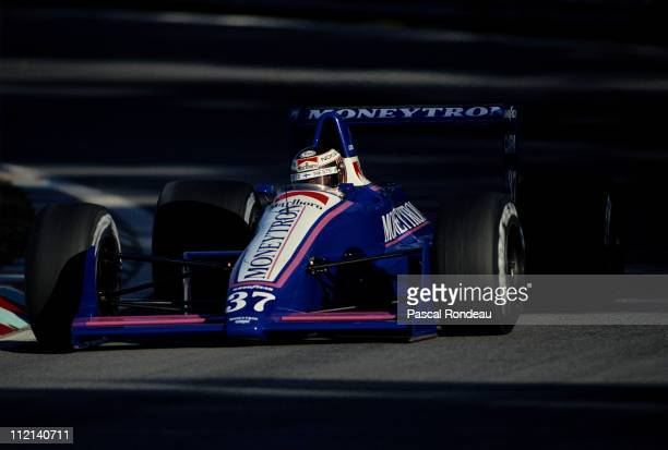 Jyrki JJ Lehto drives the Moneytron Onyx Racing Onyx ORE1 Ford Cosworth DFR 35 V8 during practice for the Portuguese Grand Prix on 22nd September...