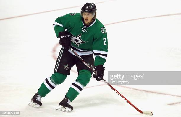 Jyrki Jokipakka of the Dallas Stars plays in a game against the Colorado Avalanche at American Airlines Center on February 3 2015 in Dallas Texas