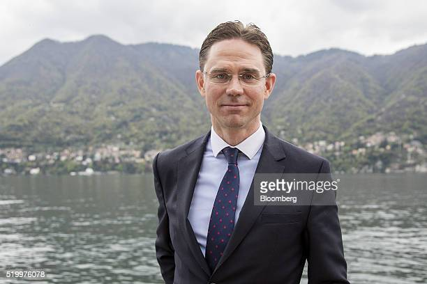 Jyrki Katainen European Commission vice president poses for a photograph at the Ambrosetti Forum in Cernobbio Italy on Saturday April 9 2016 Central...