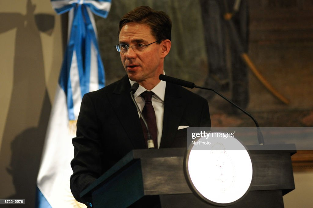 Former prime minister of Finland Jyrki Katainen in Buenos Aires