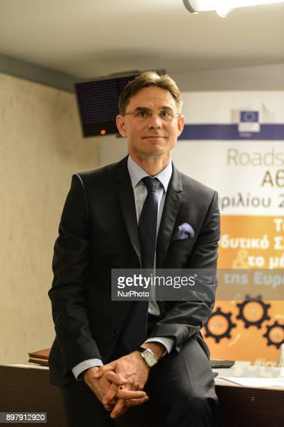 Jyrki Tapani Katainen European Commission Vicepresident for Jobs Growth Investment and Competitiveness visiting Greece on April 23 2015 Katainen...
