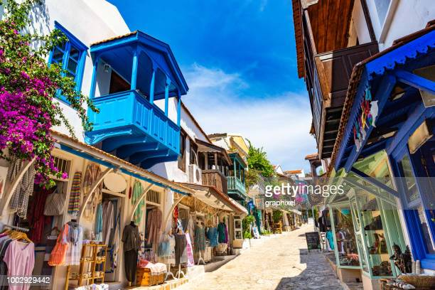 kaş antalya - old town stock pictures, royalty-free photos & images