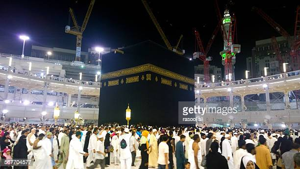 kaaba - al haram mosque stock photos and pictures