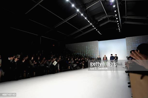 Kaal E Suktae Choi Boko TaeYoung Ko and Park Youn Soo attend the Concept Korea fashion show during MercedesBenz Fashion Week Fall 2014 at The Salon...