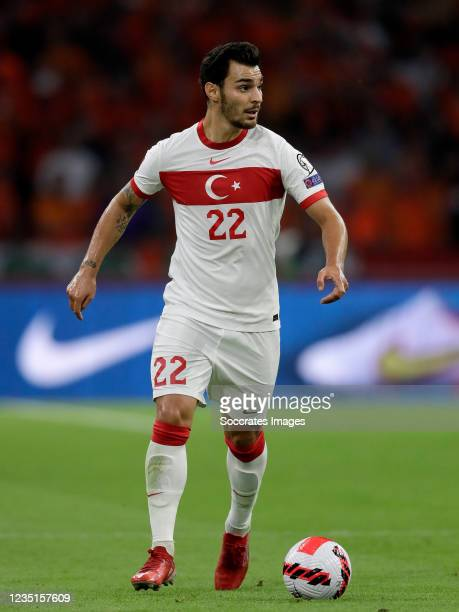 Kaan Ayhan of Turkey during the World Cup Qualifier match between Holland v Turkey at the Johan Cruijff Arena on September 7, 2021 in Amsterdam...