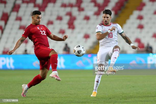 Kaan Ayhan of Turkey national football team in action against Szoboszlai of Hungary national football team during the UEFA Nations League B - Group 3...