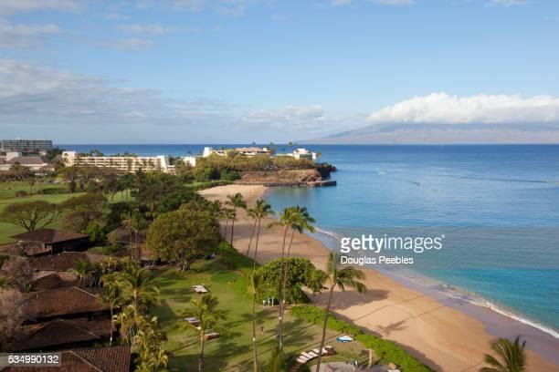 kaanapali beach, maui, hawaii - media_in_honolulu,_hawaii stock pictures, royalty-free photos & images