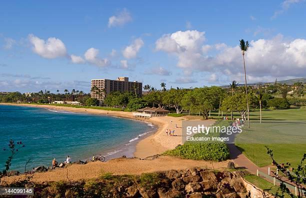 Kaanapali Beach Resort Golf Center With Ocean At Ocean Hole In Maui Hawaii
