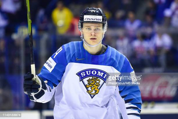 Kaapo Kakko of Finland during the 2019 IIHF Ice Hockey World Championship Slovakia group A game between Slovakia and Finland at Steel Arena on May 11...