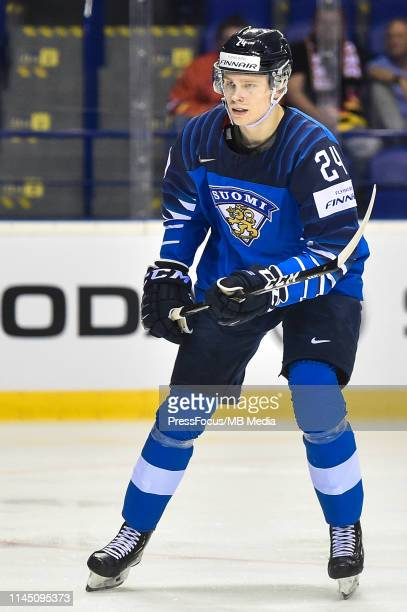 Kaapo Kakko of Finland during the 2019 IIHF Ice Hockey World Championship Slovakia group A game between France and Finland at Steel Arena on May 19...
