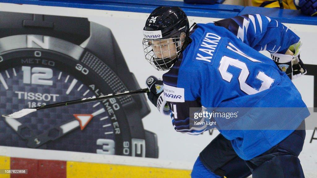 Finland v Sweden - 2019 IIHF World Junior Championship : News Photo