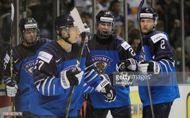 Kaapo Kakko of Finland versus Sweden at the IIHF World Junior Championships at the SaveonFoods Memorial Centre on December 26 2018 in Victoria...