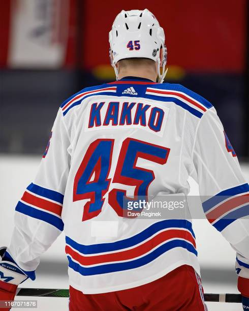 Kaapo Kakko of the New York Rangers skates in warmups during Day4 of the NHL Prospects Tournament game against the Minnesota Wild at Centre Ice Arena...