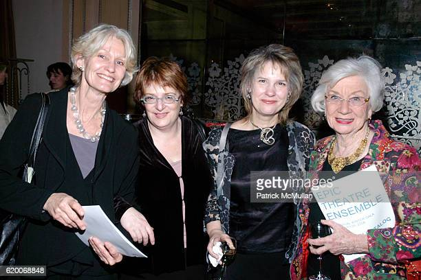 Kaaren Janssen Amy Nabel Sarah Greene and Cecily Selby attend Epic Theatre Ensemble Honors Lancôme at Twenty Four Fifth on February 25 2008 in New...