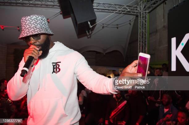 Kaaris performs during his showcase at Wanderlust on September 17, 2021 in Paris, France.