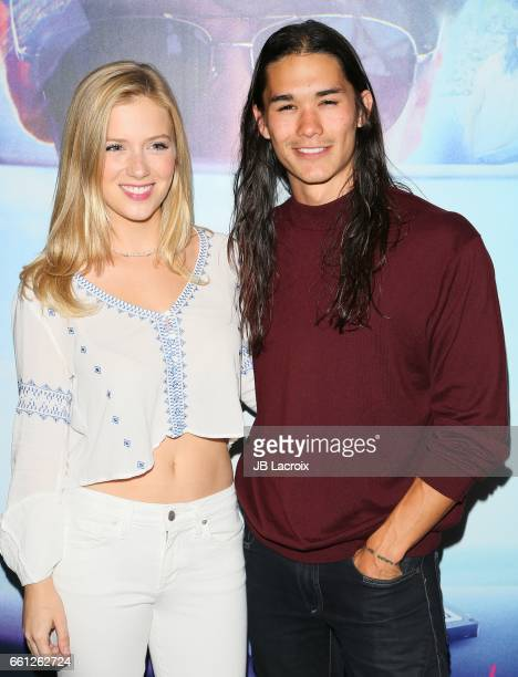 Kabby Borders and Booboo Stewart attend the premiere of Meritage Pictures' 'Pitching Tents' on March 30 2017 in Santa Monica California