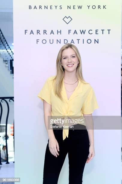 Kabby Borders attends Barneys New York Celebrates the Farrah Fawcett Foundation at Barneys New York Beverly Hills on May 23 2018 in Beverly Hills...