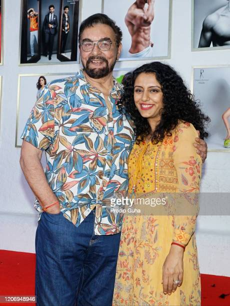 Kabir Bedi and his wife Parveen Dusanj attend the 21st limitededition 2020 Dabboo Ratnani's Calendar on February 17 2020 in Mumbai India