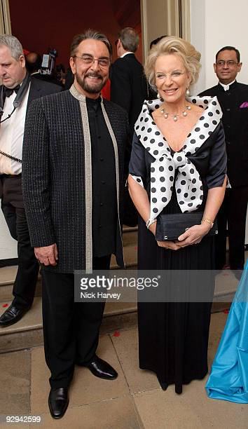Kabir Bedi and Princess Michael of Kent attend the Royal Rajasthan charity Gala on November 9 2009 in London England
