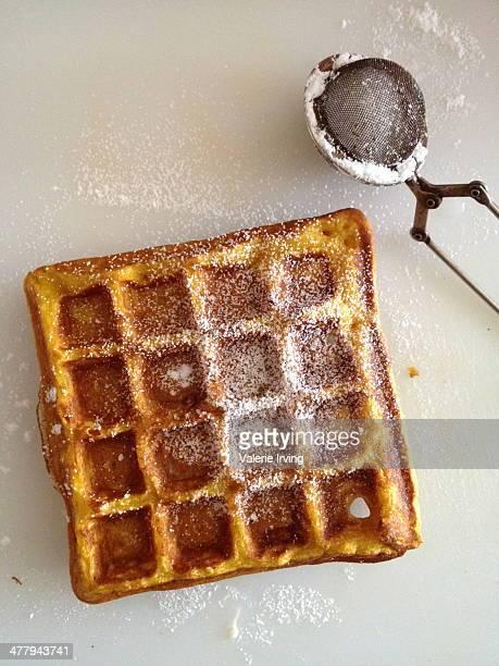 Kabocha squash waffles
