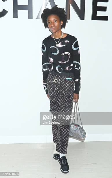 Kabrina Adams attends the launch of The Coco Club celebrated by CHANEL at The Wing Soho on November 10 2017 in New York City