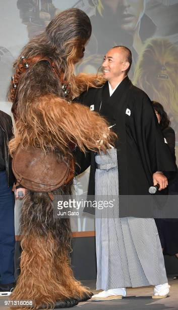 Kabuki actor Ebizo Ichikawa attends the Solo A Star Wars Story Press Conference at Midtown Hall on June 11 2018 in Tokyo Japan