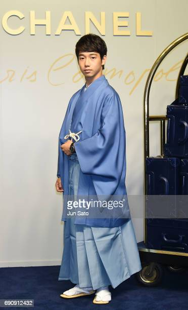 Kabuki actor Sennosuke Kataoka attends the CHANEL Metiers D'art Collection Paris Cosmopolite show at the Tsunamachi Mitsui Club on May 31 2017 in...