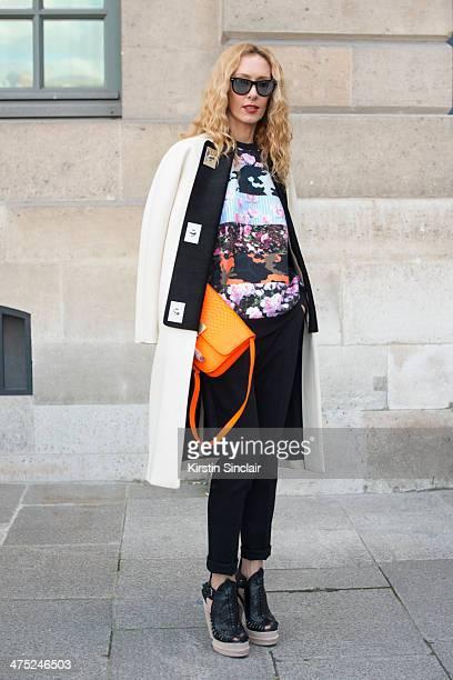 9c36a1149ba61e Kabuki Boutique Owner and fashion buyer Elina Halimi wears Celine bag  Proenza schouler coat shoes and