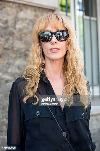 85d650af56f62e Kabuki boutique owner Elina Halimi wears Chloe shirt Saint Laurent bag and  Linda Farrow sunglasses on