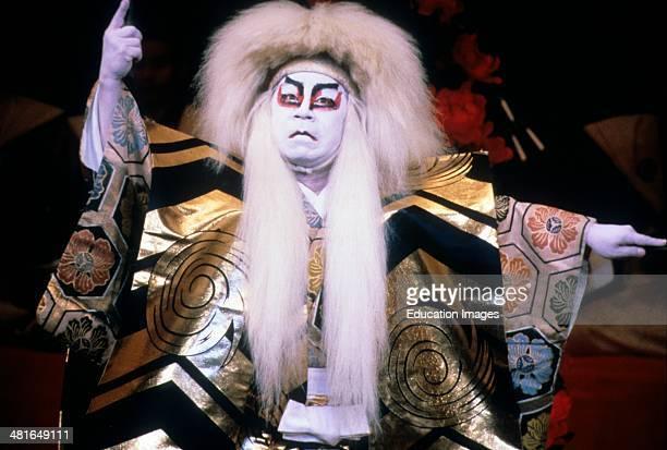 Kabuki Renjishi Japan Male Dancer