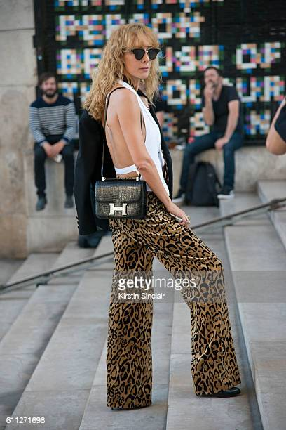 e400115413ed30 Kabuki store owner and Fashion buyer Elina Halimi wears a Dries van Noten  top and trousers