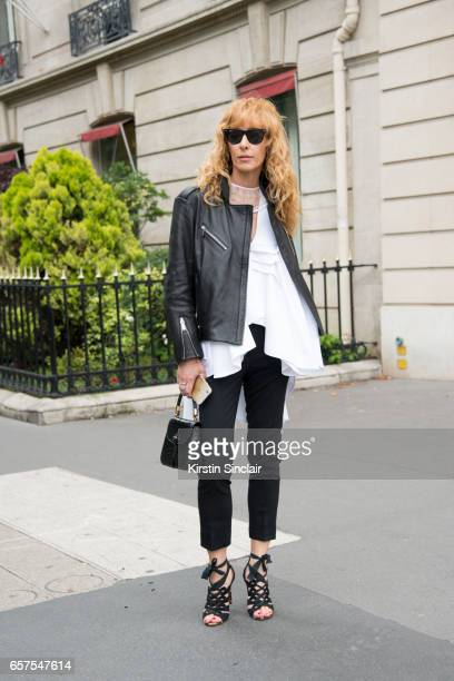 c6912f1796ad7a Kabuki store owner and fashion buyer Elina Halimi wears a Toni Maticevski  top Burberry trousers and