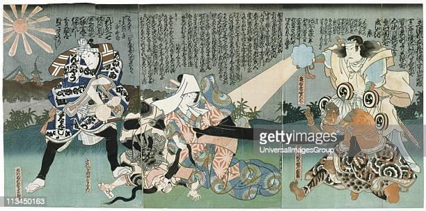 Kabuki theatre scene Kabuki a highly stylised Japanese dancedrama Utagawa Kunisada Japanese artist and printmaker Coloured woodblock print