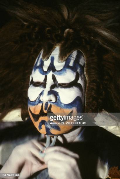 Kabuki traditional Japanese theatre performance in October 1981 in Paris France
