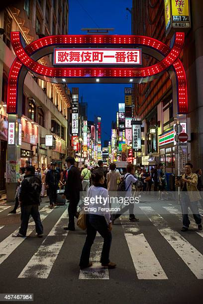 Kabukicho entertainment and red light district is located in Shinjuku and is a lively area full of karaoke restaurants bars and hostess clubs