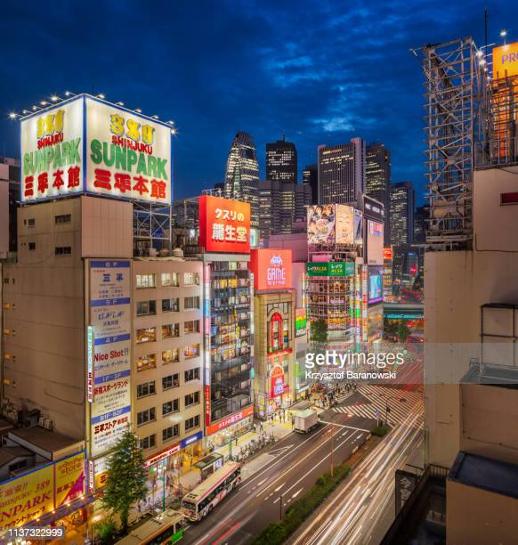 kabukicho twilight - red light district stock pictures, royalty-free photos & images