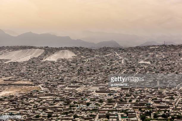 kabul city aerial view - afghanistan stock pictures, royalty-free photos & images