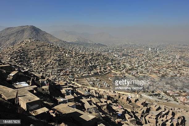 kabul city view - kabul stock pictures, royalty-free photos & images