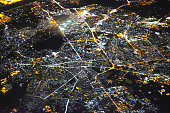 Kabul Cityscape from Sky at Night