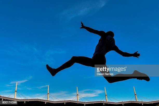 Kabwatanda of France competes in the Men's Long Jump National Event during day 1 of the European Athletics Team Championships at the Lille Metropole...