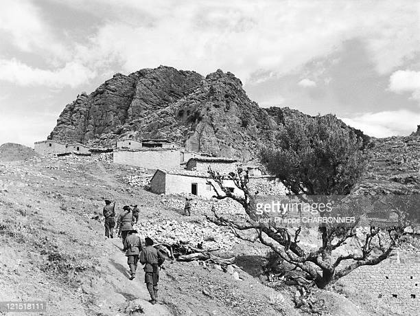 Kabylia French Army Alpine Hunters Patrol In A Moutain Village In 1957