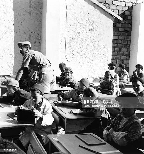 Kabylie Oujima French Classroom For Muslim Children A Military Teacher In 1957