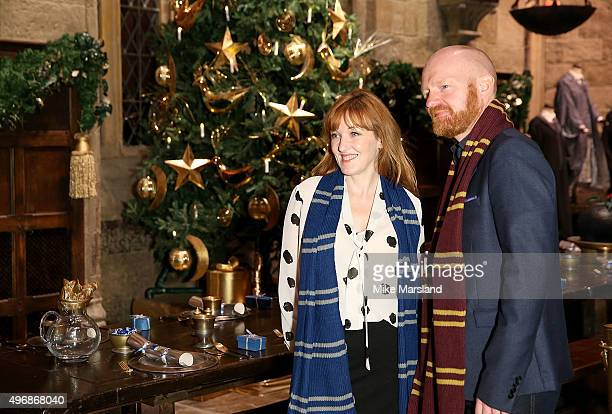 Kacey Ainsworth and Jake Wood attend the Launch Of Hogwarts In The Snow at Warner Bros Studio Tour London on November 12 2015 in Watford England