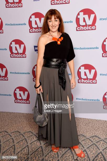 Kacey Ainsworth arrives at the TV Choice Awards at The Dorchester on September 4 2017 in London England