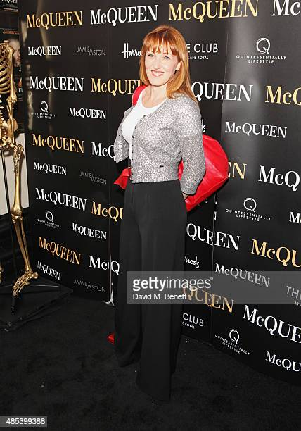 Kacey Ainsworth attends the press night performance of McQueen at the Theatre Royal Haymarket on August 27 2015 in London England